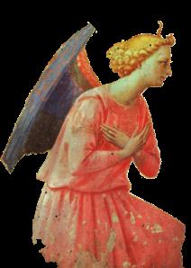 Fra Angelico adoring angel detail
