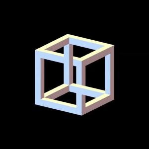 3d cube illusion