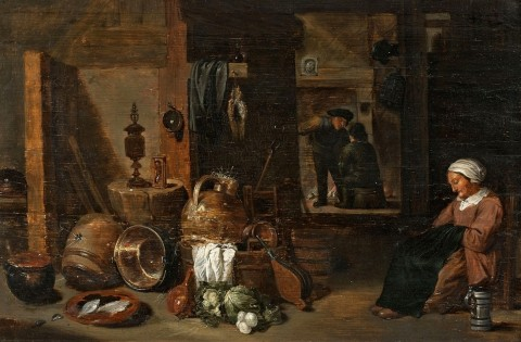 siftingthepast_kitchen-interior-with-sleeping-woman_david-teniers-the-younger1610-1690_